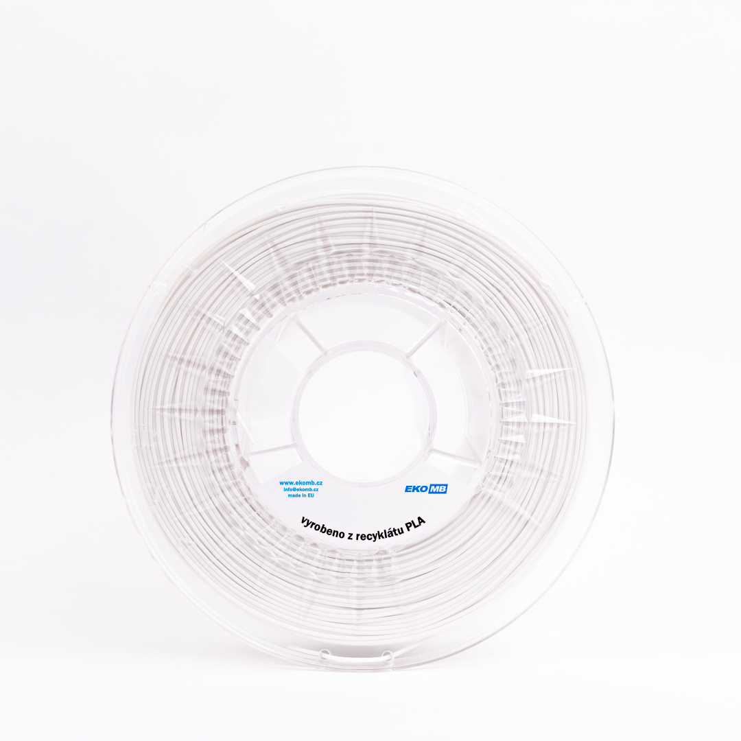 rPLA filament EKO MB bílá 1,75 mm 1 kg