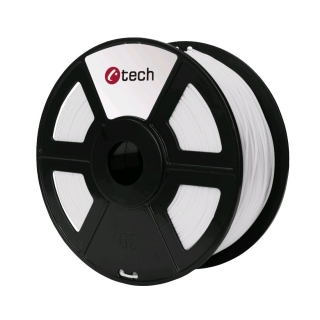 PLA filament C-TECH bílá 1,75 mm 1 kg