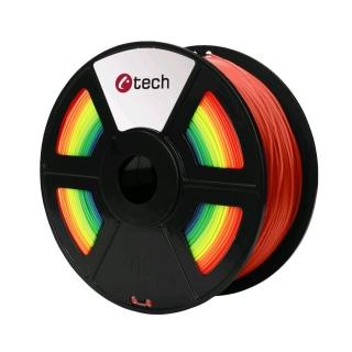 PLA filament C-TECH duhový (rainbow) 1,75 mm 1 kg